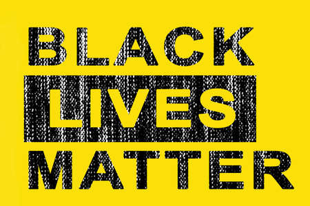 The inscription black lives matter with texture