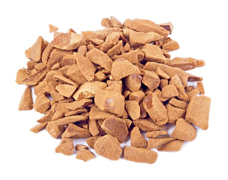 freeze dried: The heap of instant freeze dried coffee isolated on the white background Stock Photo