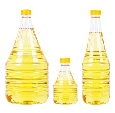 cooking oil: Pet bottles with oil