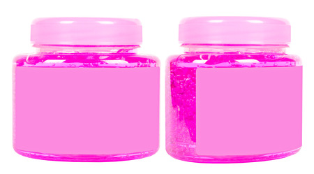 Pink conditioner jars photo