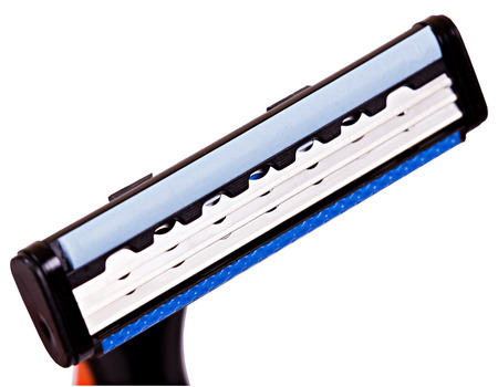 Razor blade shaver isolated on white background photo