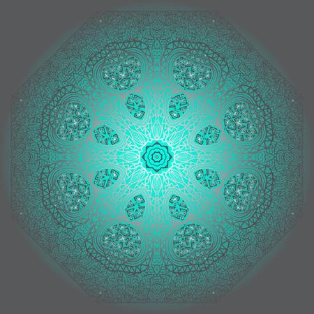 octagonal: Ornamento gris octogonal sobre un fondo azul y gris