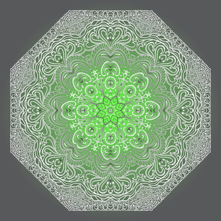 octagonal: Grey and green octagonal pattern on a grey background