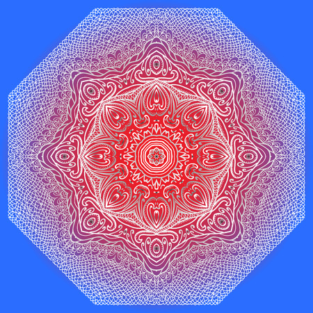 octagonal: Grey, red and blue octagonal pattern for design and background