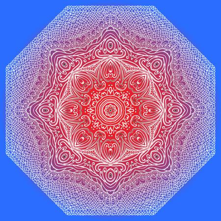 octagonal: Gris, Modelo octagonal rojo y azul para el dise�o y el fondo