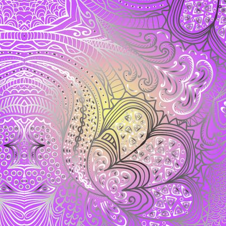 violet background: Rettangolare ornamento colorato su uno sfondo viola