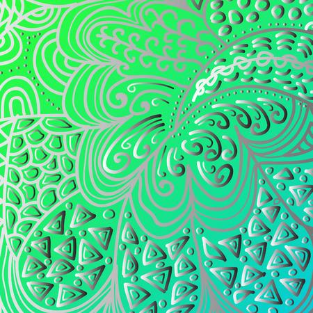 quadrate: Quadrate green gradient ornament for design