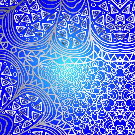 quadrate: Quadrate blue gradient ornament for design Illustration