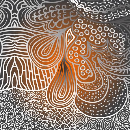 quadrate: Quadrate orange pattern for background Illustration