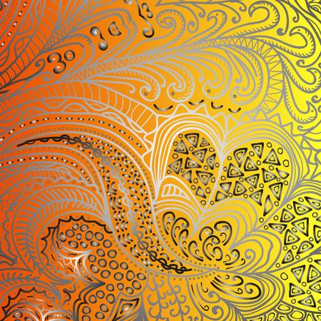 orange pattern: Quadrate orange pattern for design