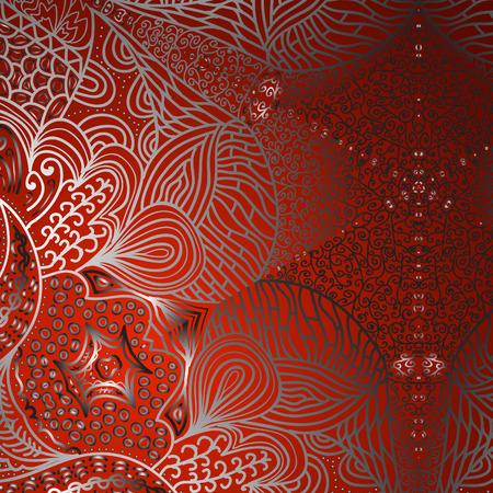 quadrate: Quadrate red gradient ornament for design Illustration