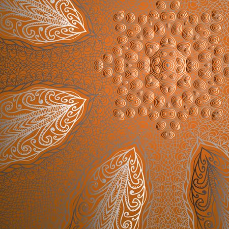 quadrate: Quadrate orange pattern for design