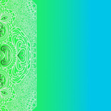 quadrate: Quadrate green blue pattern for design