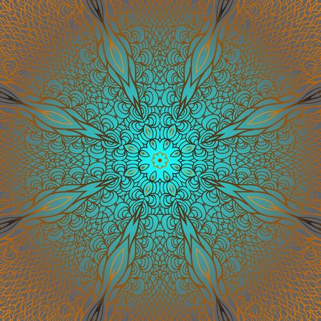 quadrate: Quadrate blue rosy pattern for design