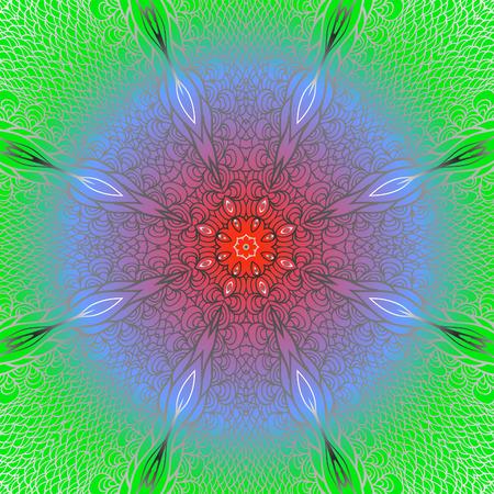 quadrate: Quadrate blue red green ornament for design