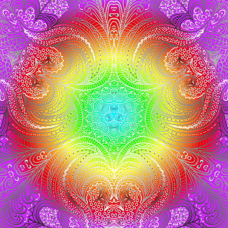 varicolored: Quadrate varicolored pattern for design Illustration