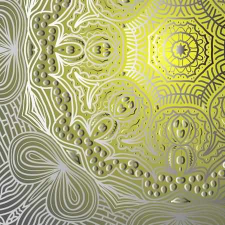 quadrate: Quadrate yellow gradient ornament for design