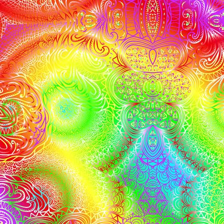 quadrate: Quadrate colorful ornament for design Illustration