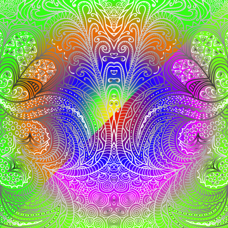 garish: Quadrate garish ornament for design