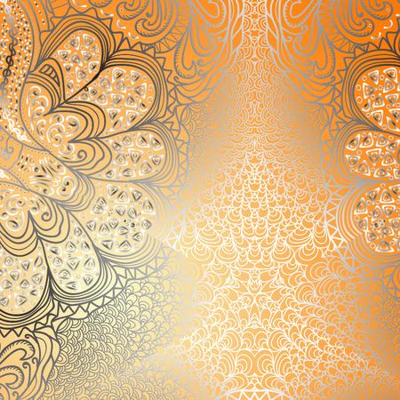 orange pattern: Quadrate bright orange pattern for design