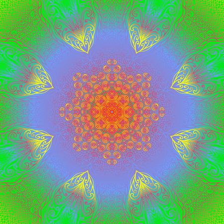quadrate: Quadrate bright varicolored pattern for design Illustration