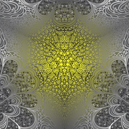 quadrate: Quadrate grey yellow pattern for design