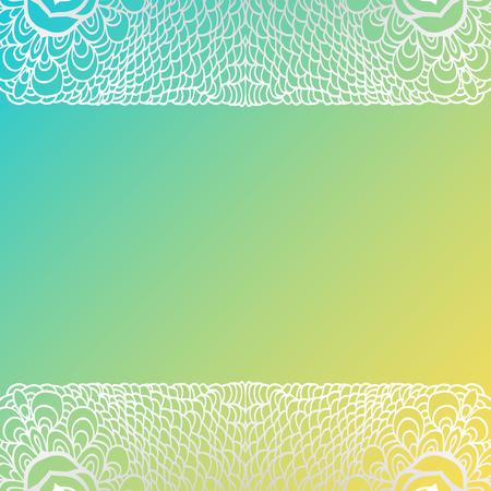 tarjeta amarilla: Cuadrado tarjeta amarilla azul con patrones de dise�o