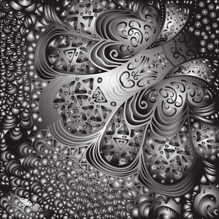 quadrate: Quadrate black and white ornament for design