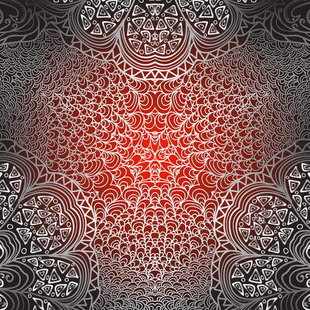 grey pattern: Quadrate red grey pattern for design Illustration