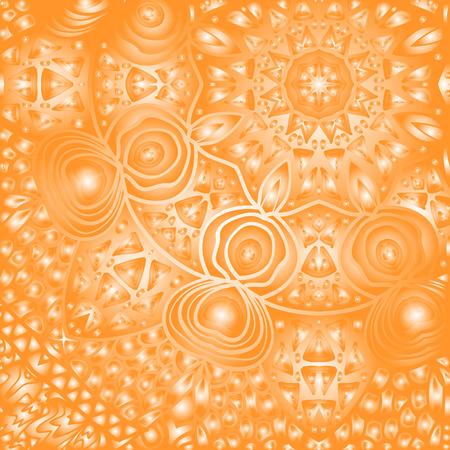 quadrate: Quadrate orange ornament for design and background Illustration