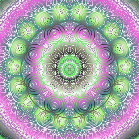 quadrate: Quadrate colorful ornament for design and background