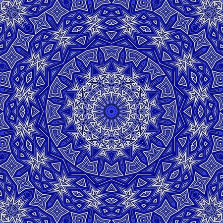 ornamental design: Blue rectangular seamless ornament for design and background