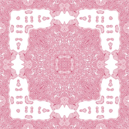 rosy: Repeating abstract kaleidoscopic rosy background Stock Photo