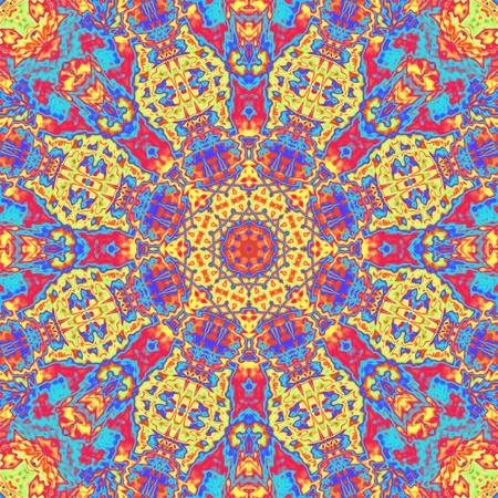 Repeating abstract kaleidoscopic colorful background photo