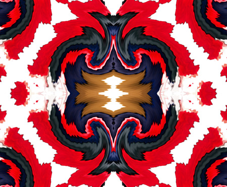 red black white: Kaleidoscopic abstract artistic red black white background for design