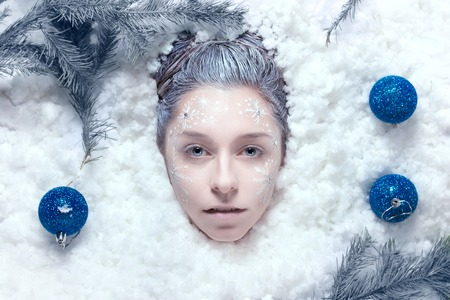 Studio Retouch professional snow Christmas photo