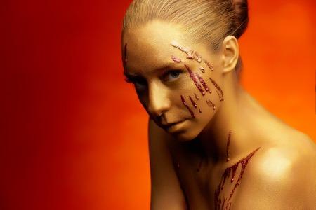 Gold session body art master shoot studio photo