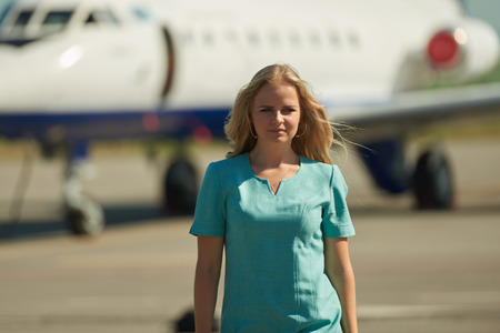 photo shoot: Attendant airport photo shoot prodessional model and photograph