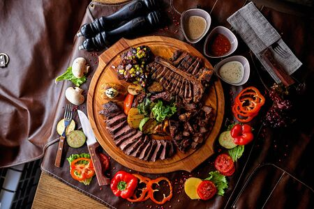 biefstuk assorti Stockfoto