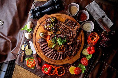 bistecca assortita Archivio Fotografico