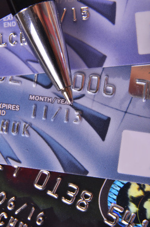 pen on the credit cards