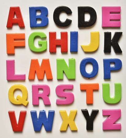 英語のアルファベット 写真素材
