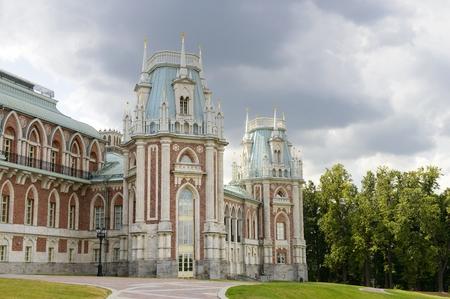 pilasters: ancient palace in Tsaritsino park