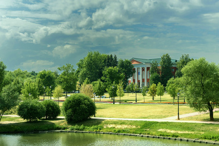 ancient palace in Tsaritsino park