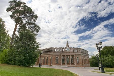 pilasters: ancient palace in Tsaritsyno park