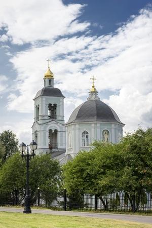 arrepentimiento: vista panor�mica de la iglesia Foto de archivo