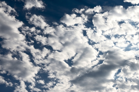 cirrus: white cirrus clouds in the sky