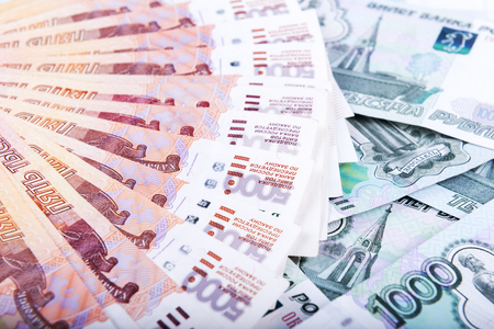 rubles: Russian rubles background