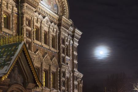 worship service: Savior on Spilled Blood in St. Petersburg in the winter