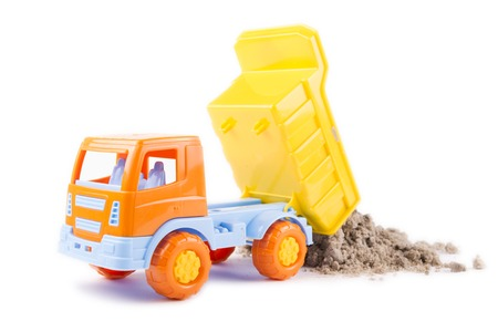 toy truck isolated on a white background